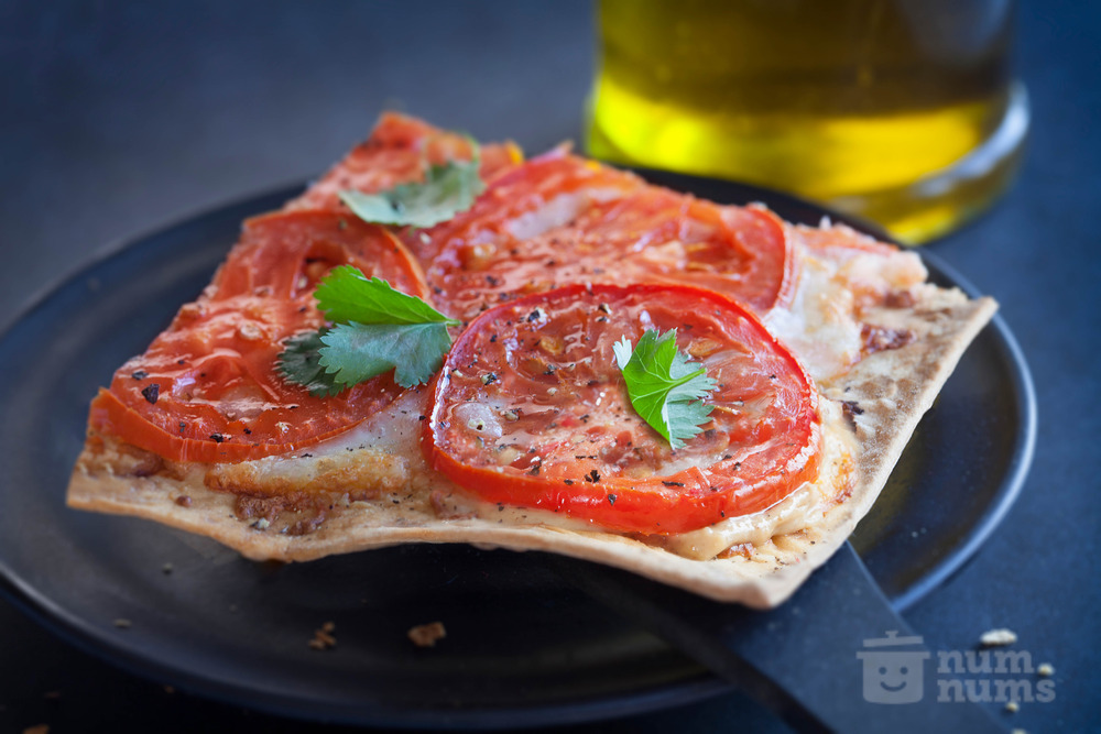 Lavash Pizza with Peanut Butter